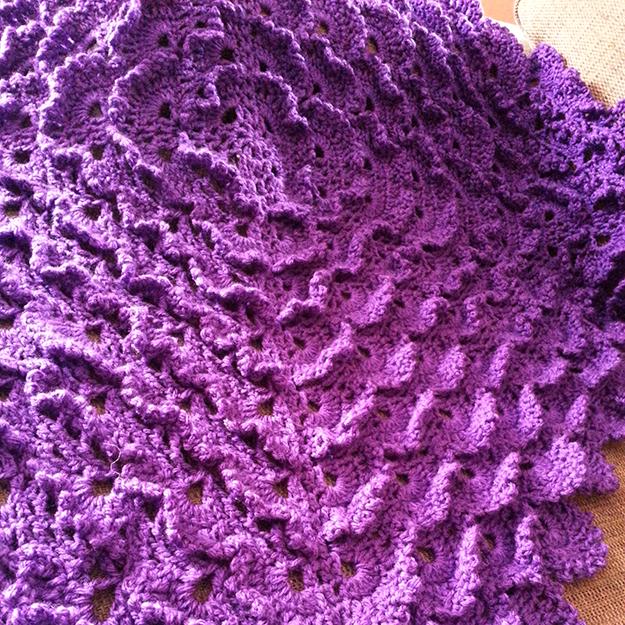 purple 3d lace