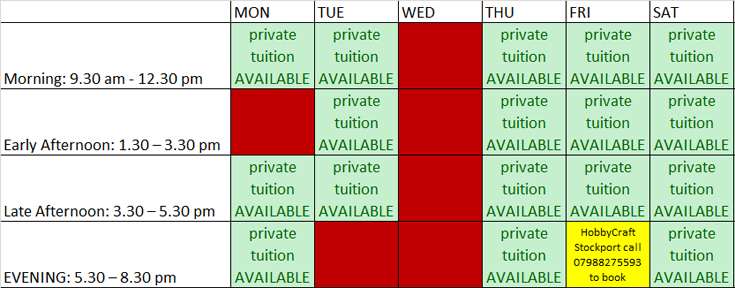 lessons availability aug14